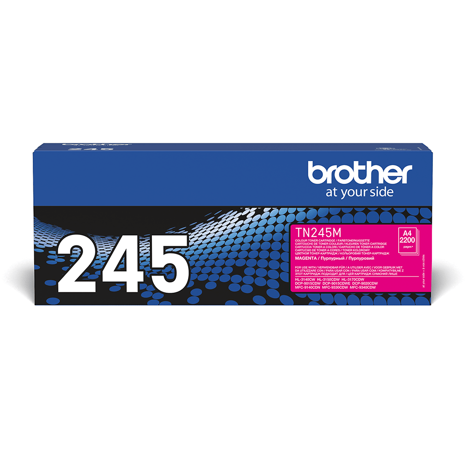 Genuine Brother TN-245M Toner Cartridge – Magenta  0