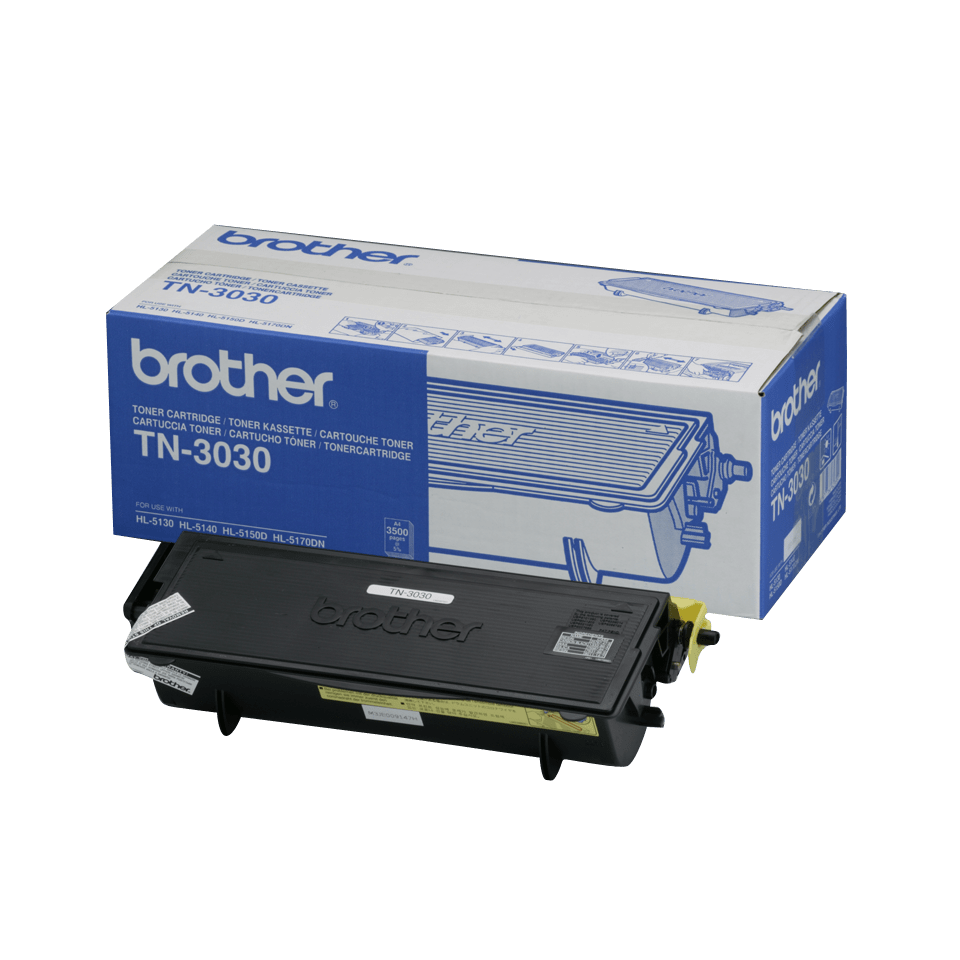 Genuine Brother TN-3030 High Yield Toner Cartridge – Black