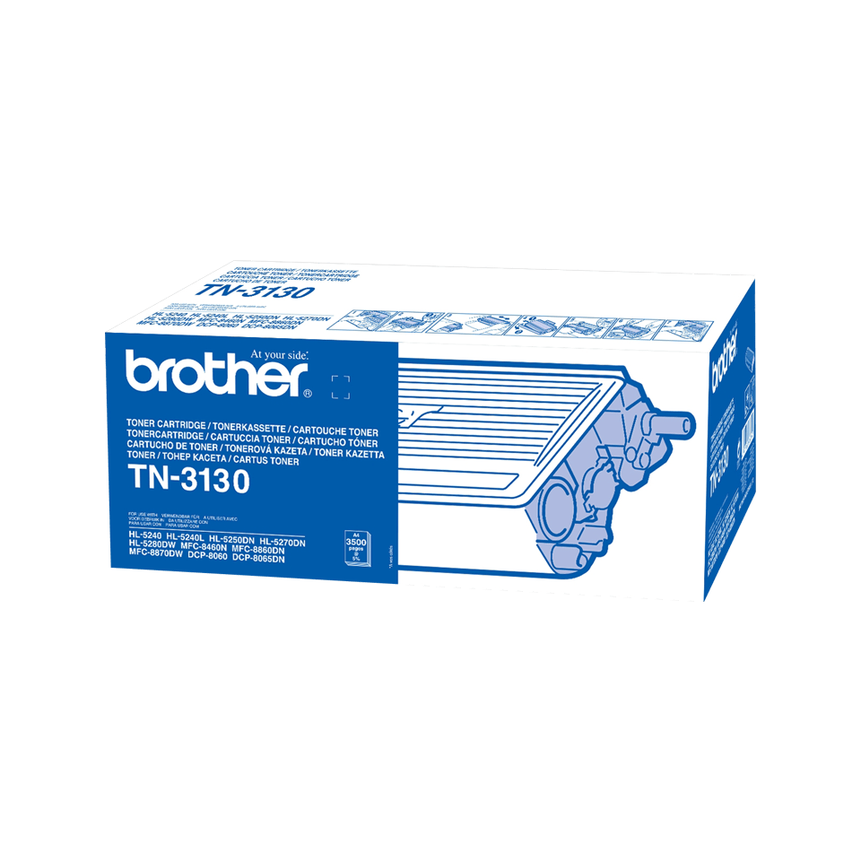 Genuine Brother TN-3130 High Yield Toner Cartridge – Black 0