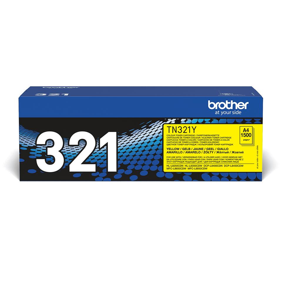 Genuine Brother TN-321Y Toner Cartridge – Yellow 0