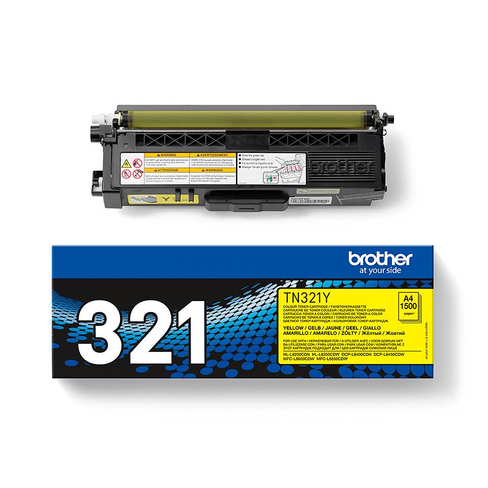 Genuine Brother TN-321Y Toner Cartridge – Yellow 1