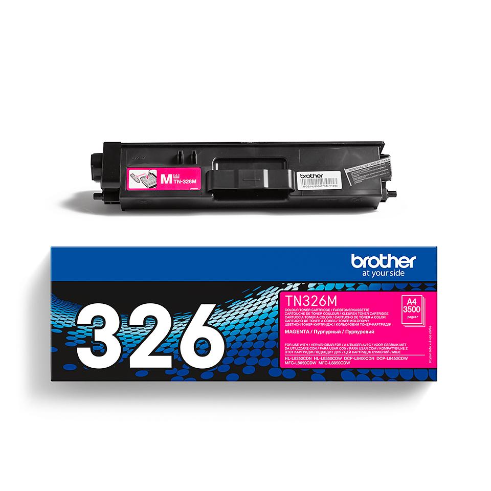 Genuine Brother TN-326M Toner Cartridge – Magenta 2