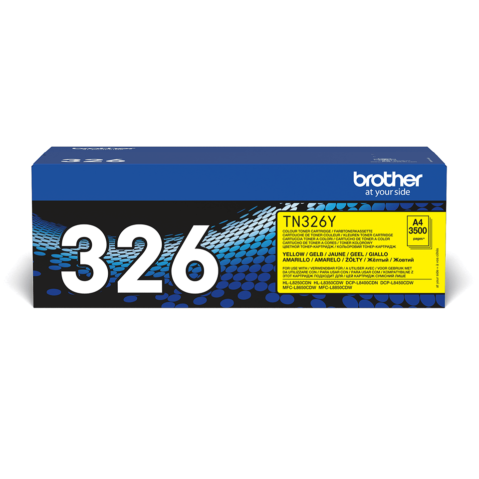 Genuine Brother TN-326Y Toner Cartridge – Yellow 0
