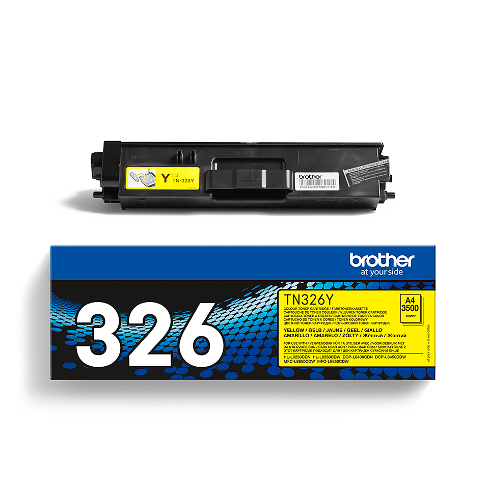 Genuine Brother TN-326Y Toner Cartridge – Yellow 2