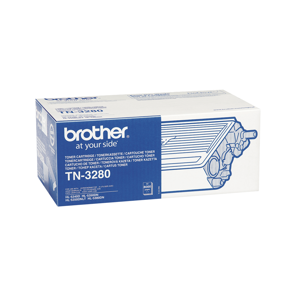 Genuine Brother TN3280 High Yield Toner Cartridge – Black 1