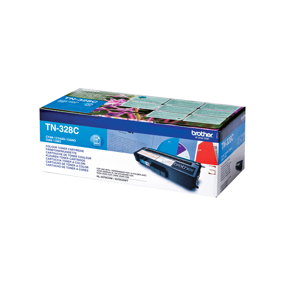 Genuine Brother TN-328C Toner Cartridge – Cyan 0