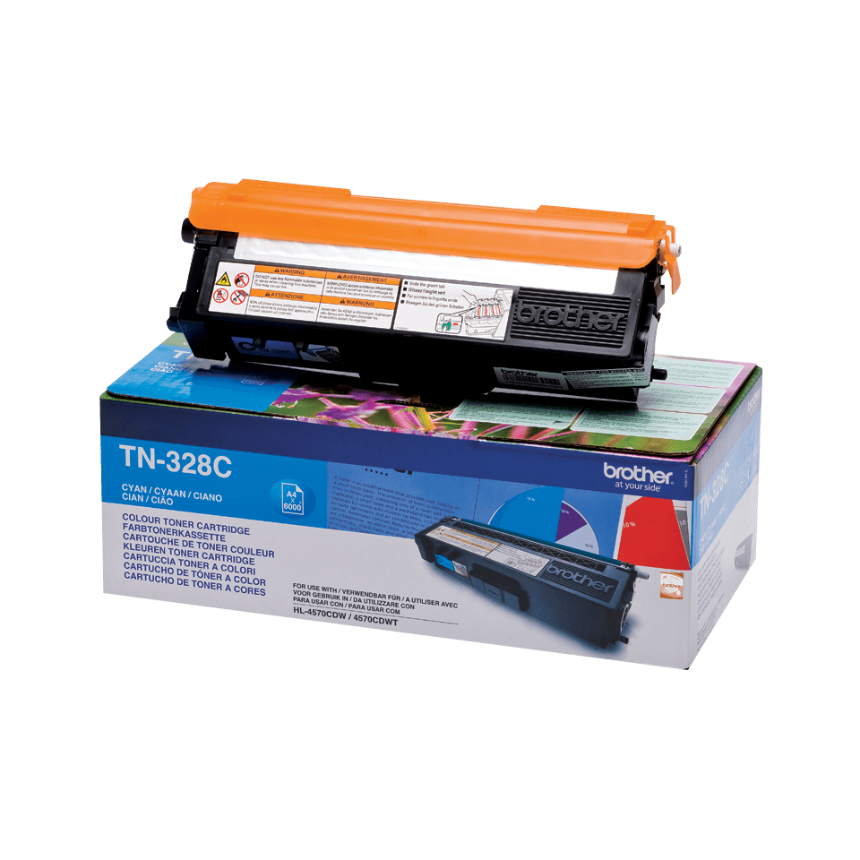 Genuine Brother TN-328C Toner Cartridge – Cyan 1