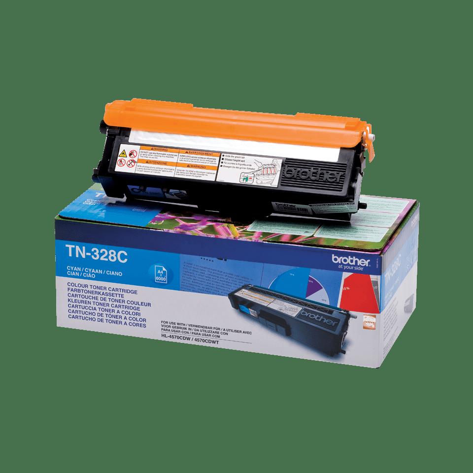 Genuine Brother TN-328C Toner Cartridge – Cyan 2