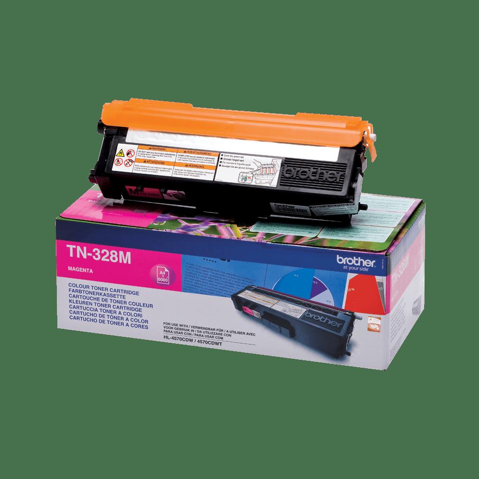 Genuine Brother TN-328M Toner Cartridge – Magenta