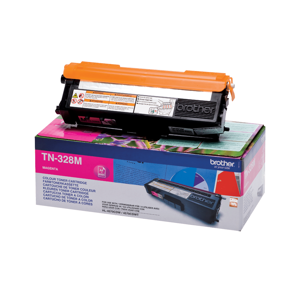 Genuine Brother TN-328M Toner Cartridge – Magenta 2