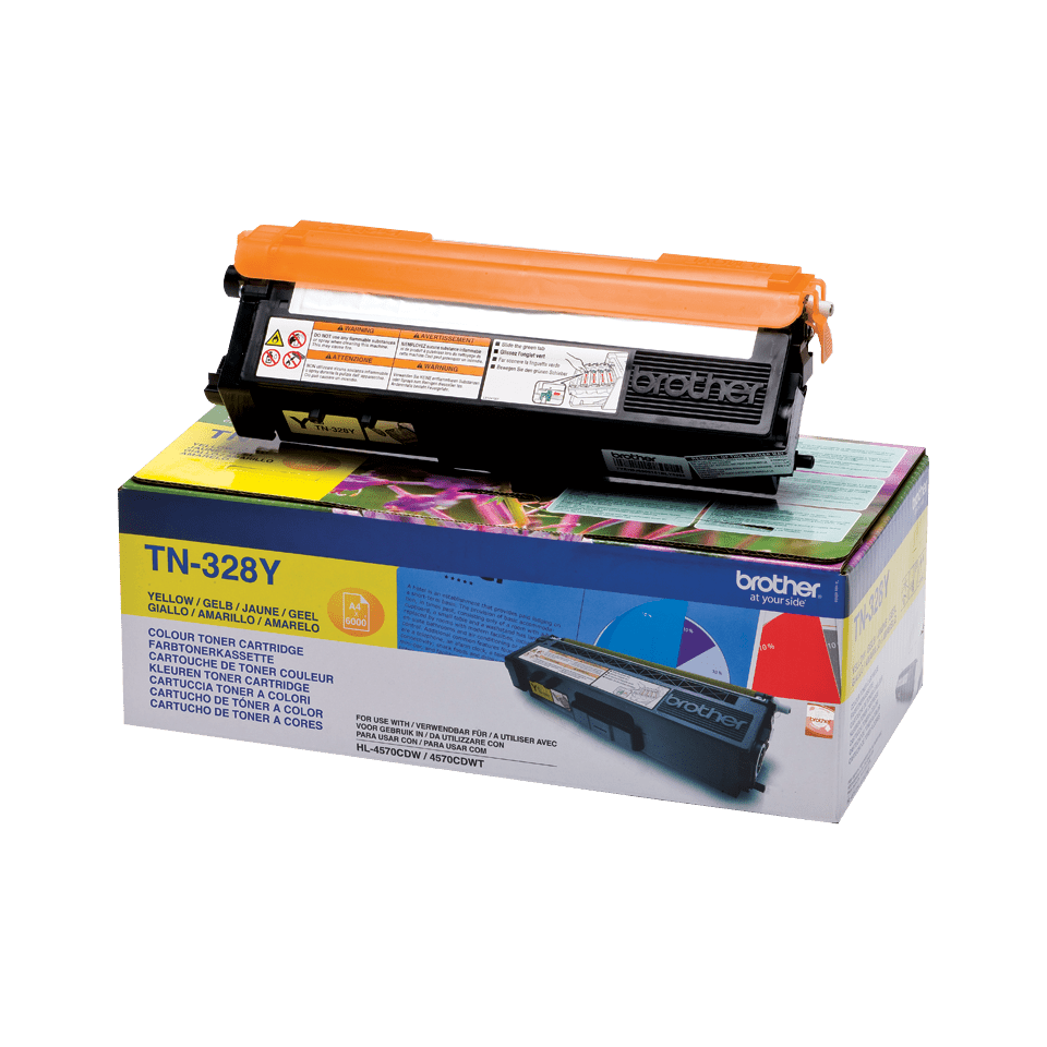 Genuine Brother TN-328Y Toner Cartridge – Yellow 2