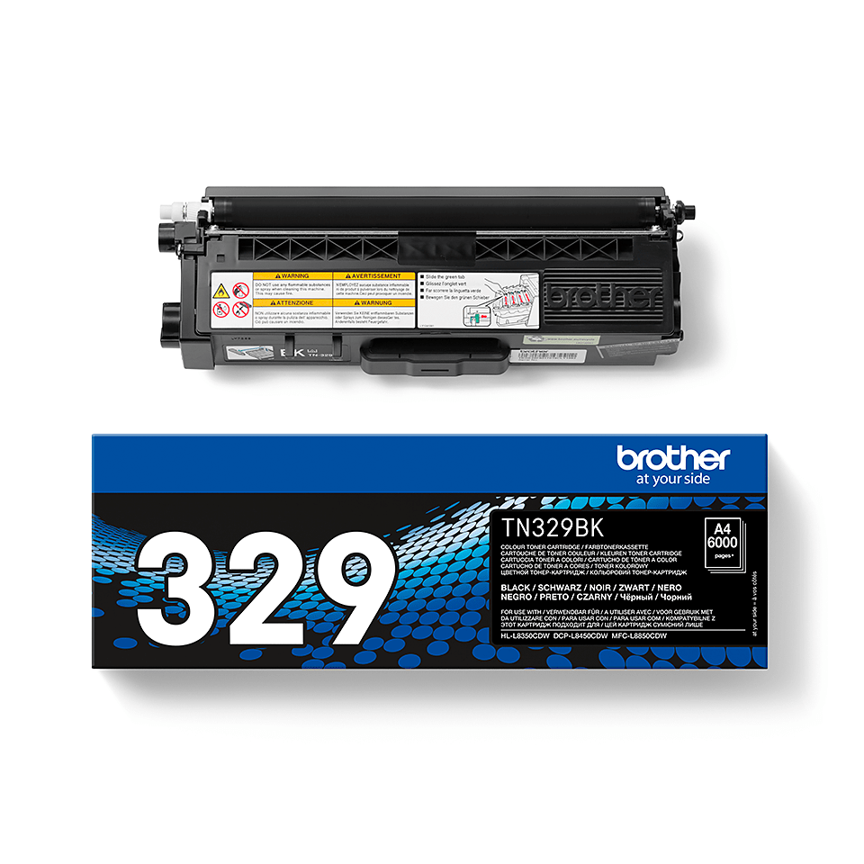 Genuine Brother TN-329BK Toner Cartridge – Black 1