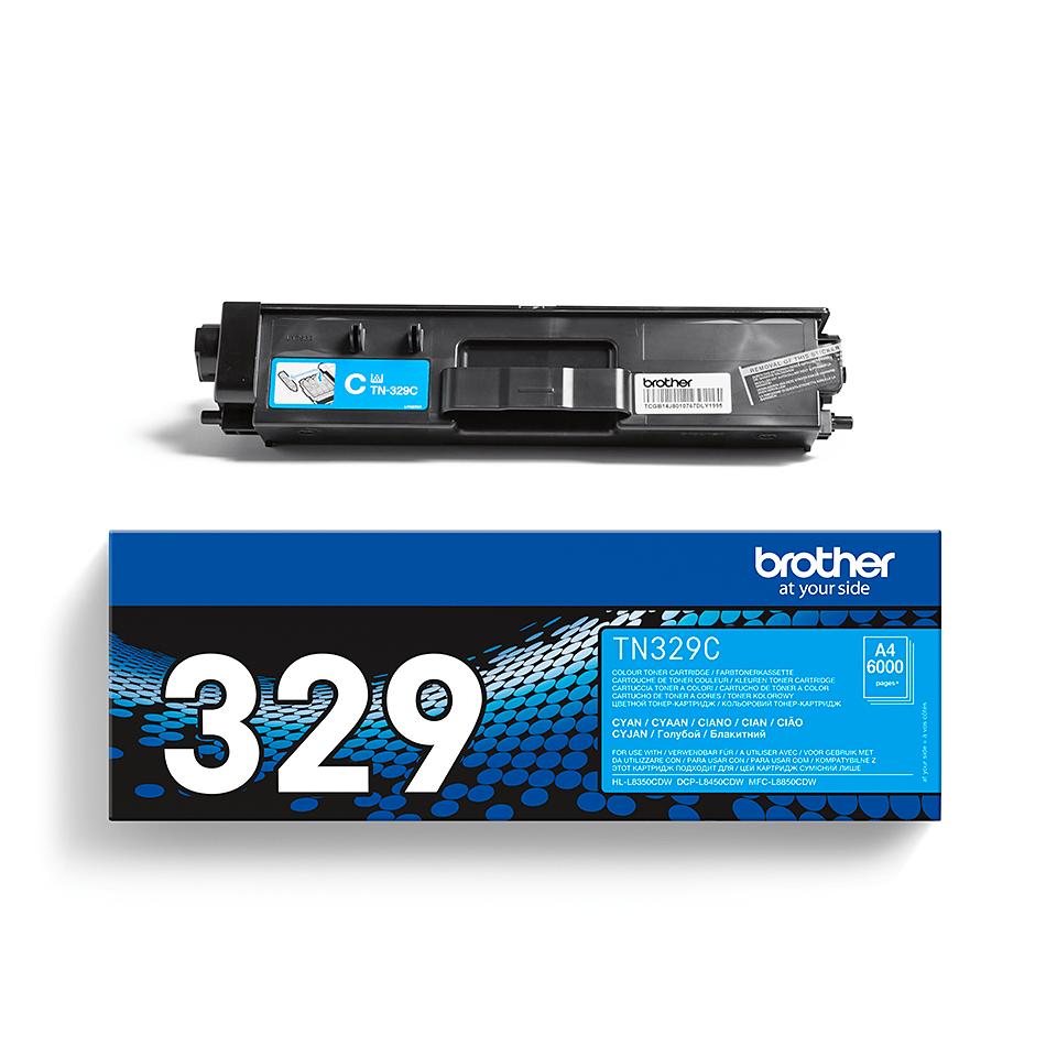 Genuine Brother TN-329C Toner Cartridge – Cyan 2