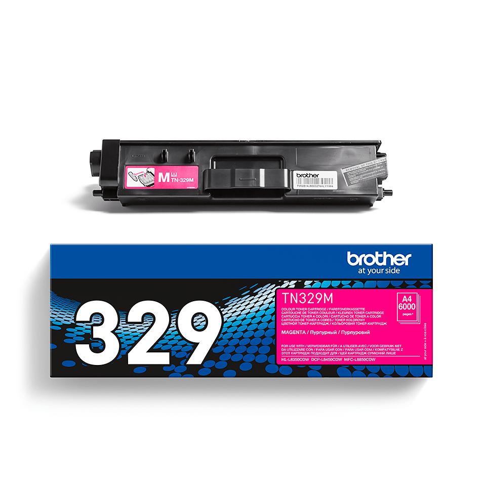 Genuine Brother TN-329M Toner Cartridge – Magenta 1