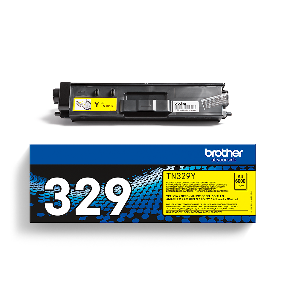 Genuine Brother TN-329Y Toner Cartridge – Yellow 2