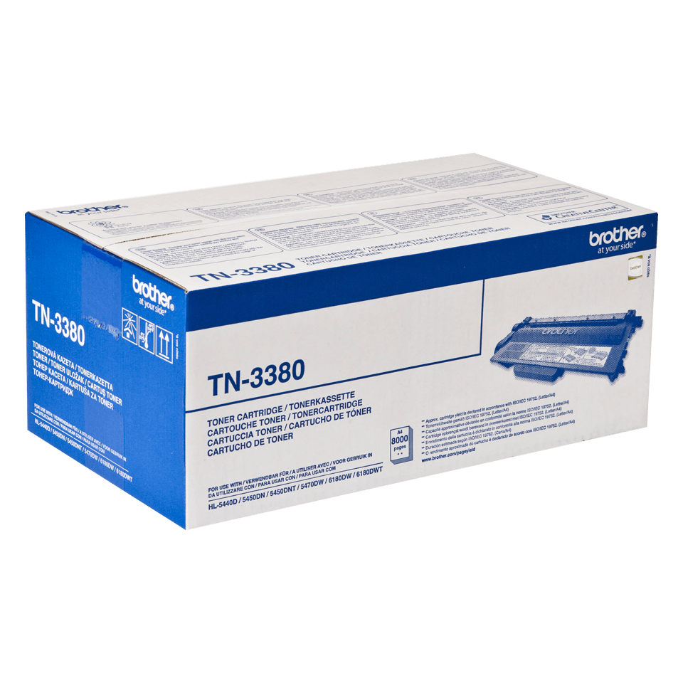 Genuine Brother TN3380 High Yield Toner Cartridge – Black