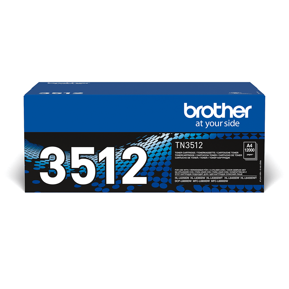 Genuine Brother High Yield TN3512 Toner Cartridge – Black