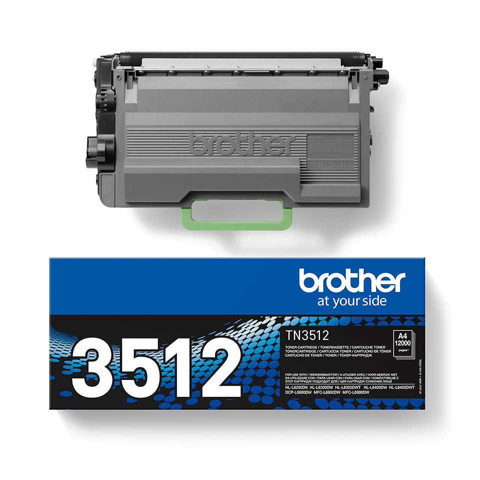 Genuine Brother High Yield TN3512 Toner Cartridge – Black  2