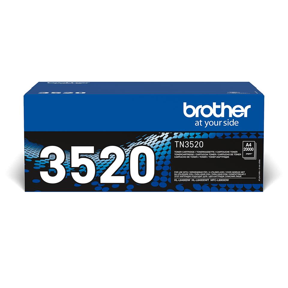 Genuine Brother TN3520 Ultra High Yield Toner Cartridge – Black