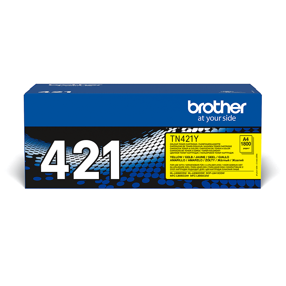 Genuine Brother TN421Y Toner Cartridge – Yellow