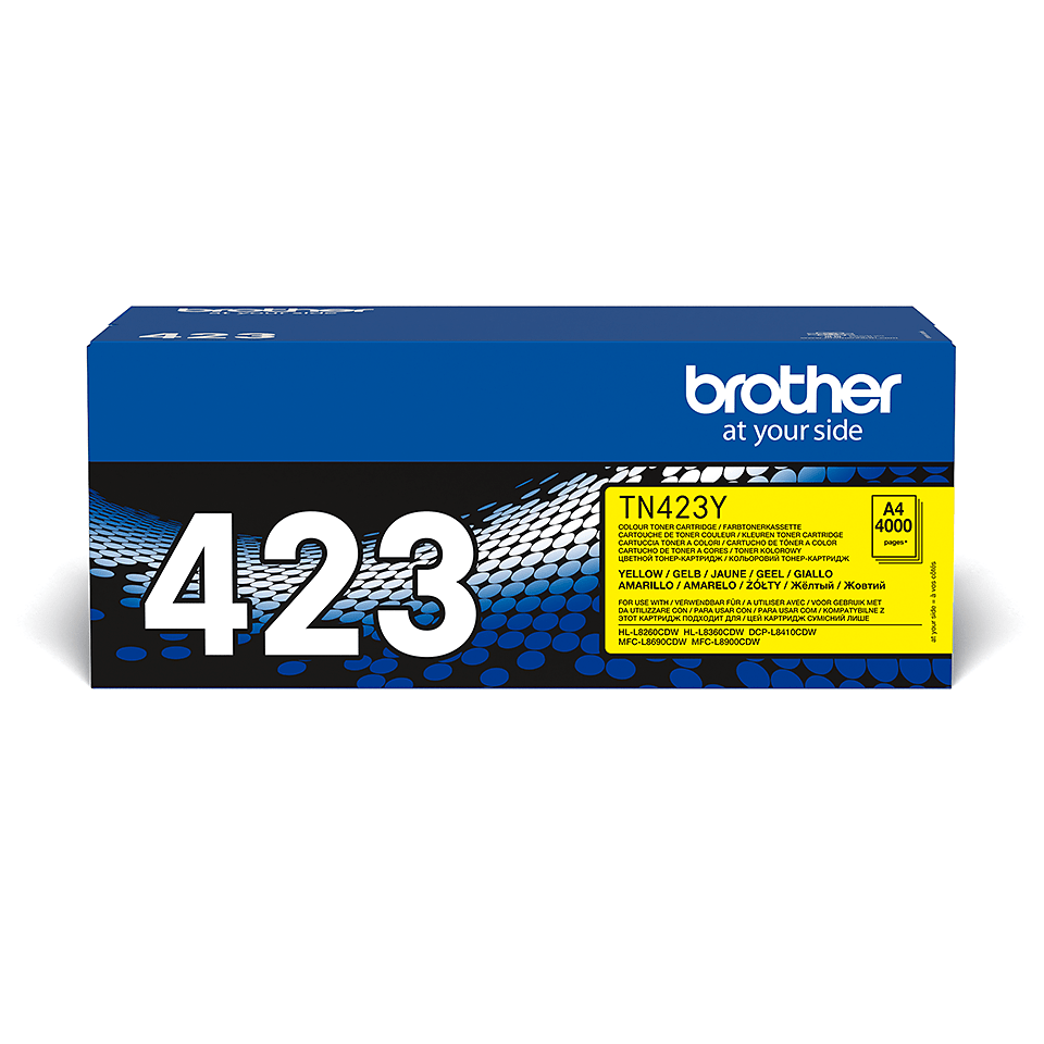 Genuine Brother TN-423Y Toner Cartridge – Yellow