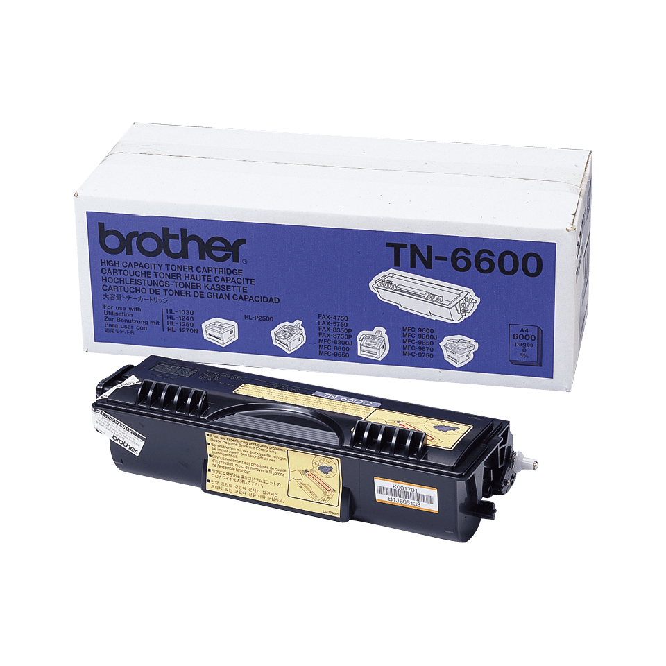 Genuine Brother TN-6600 High Yield Toner Cartridge – Black