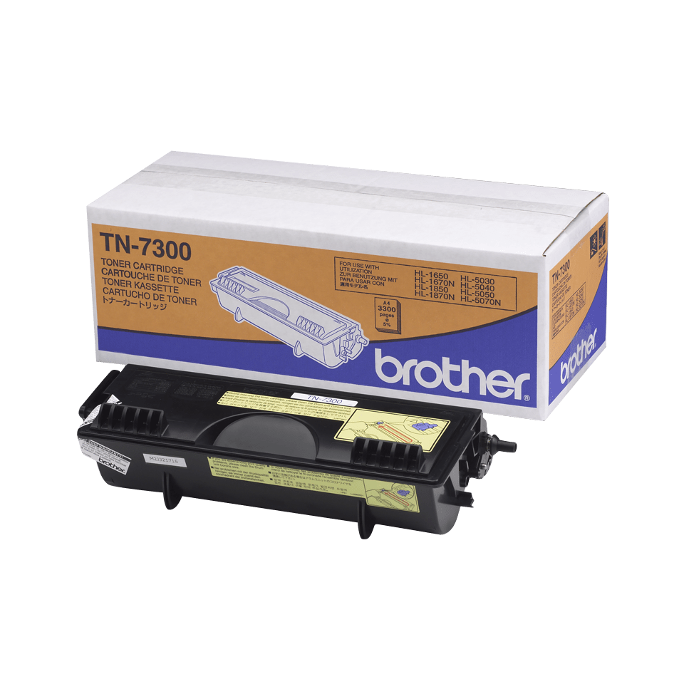 Genuine Brother TN-7300 High Yield Toner Cartridge – Black