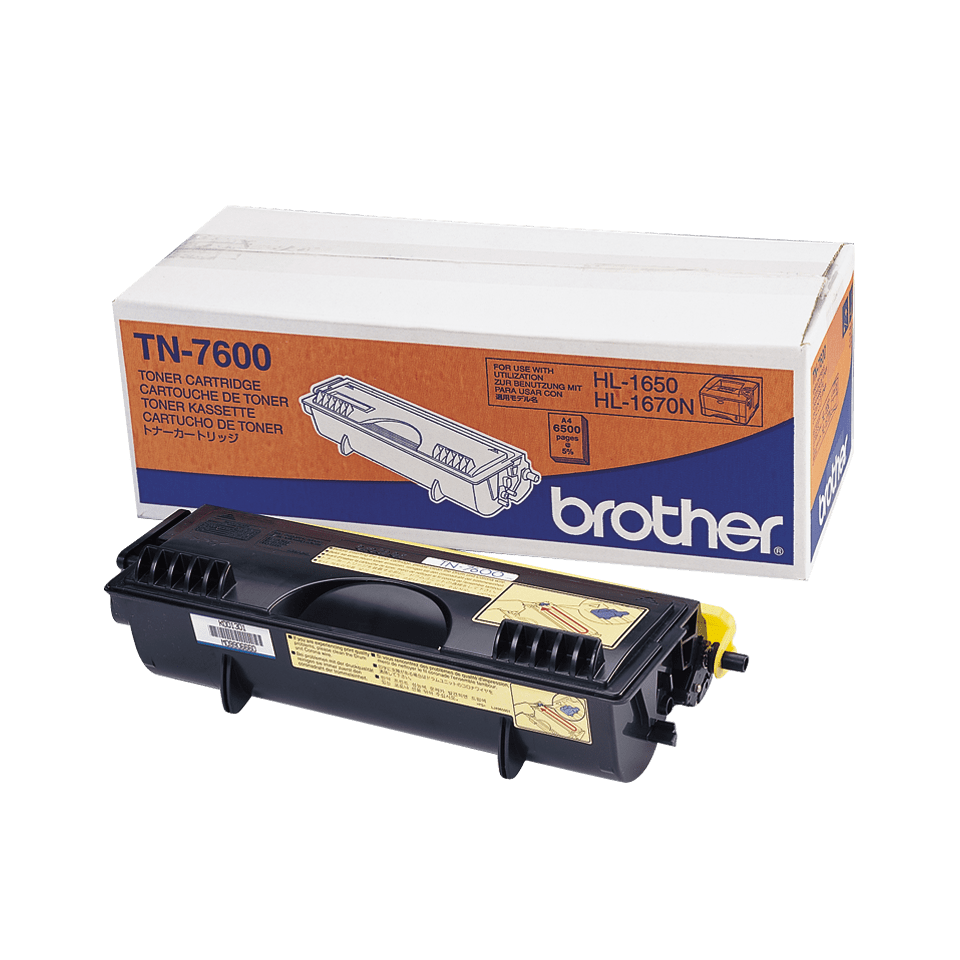Genuine Brother TN-7600 High Yield Toner Cartridge – Black