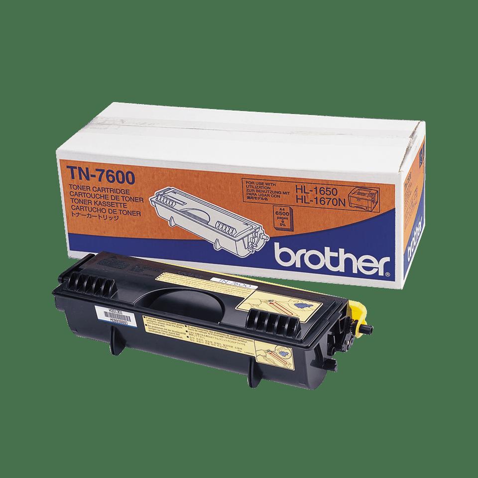 Genuine Brother TN-7600 High Yield Toner Cartridge – Black