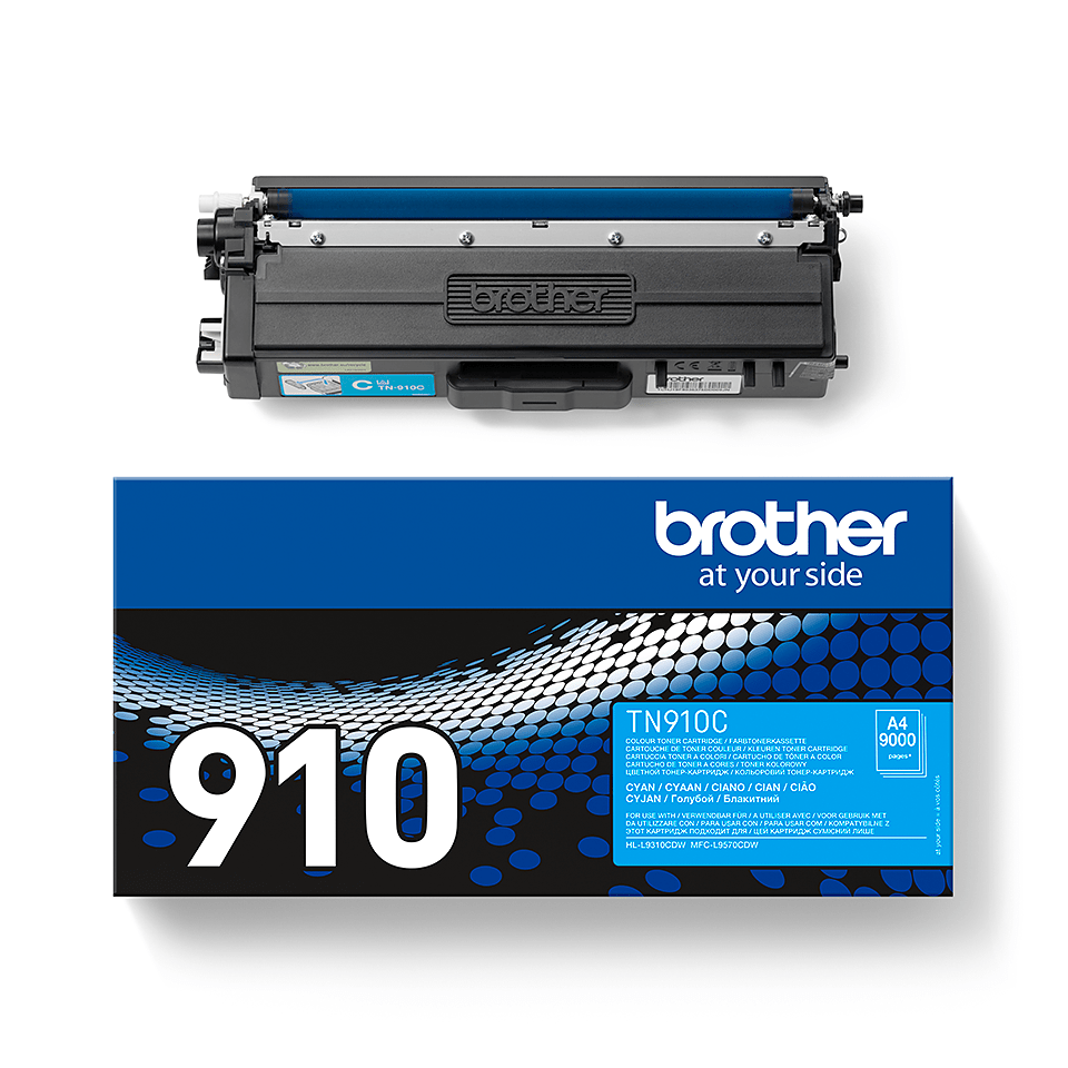 Genuine Brother TN-910C Toner Cartridge – Cyan 1