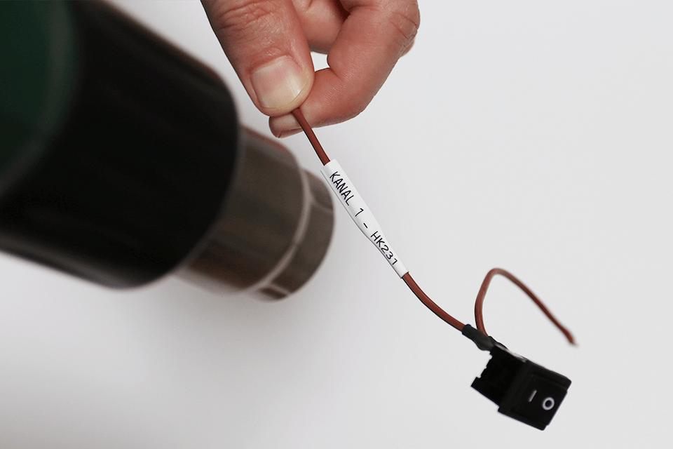 Genuine Brother HSe-211 Heat Shrink Tube Tape Cassette – Black on White, 5.8mm wide 4