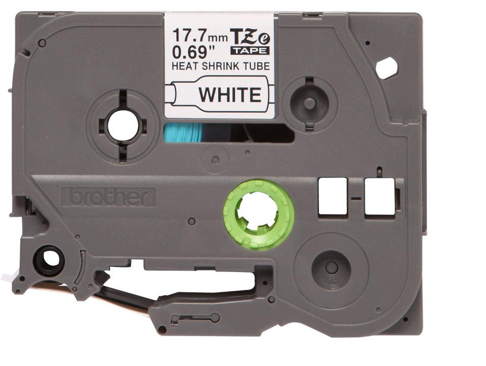 Genuine Brother HSe-241 Heat Shrink Tube Tape Cassette – Black on White, 17.7mm wide 2