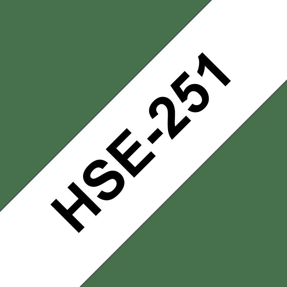 Genuine Brother HSe-251 Heat Shrink Tube Tape Cassette – Black on White, 23.6mm wide 3