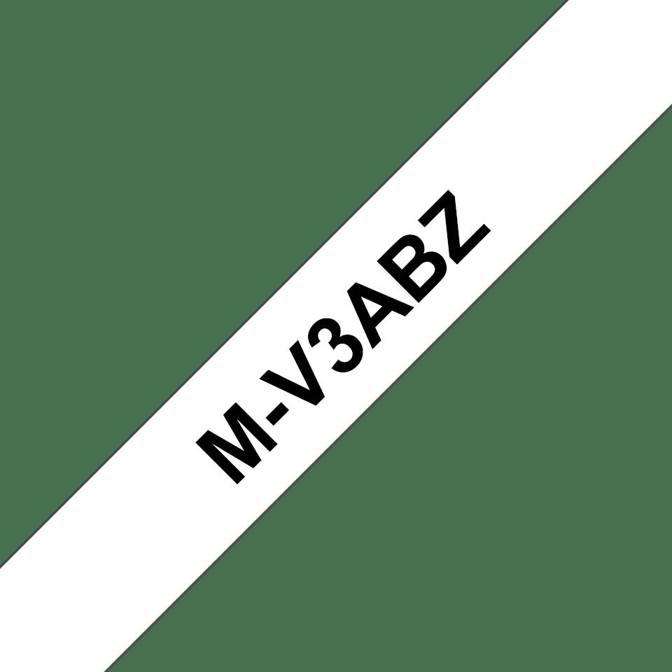 Genuine Brother M-V3ABZ Labelling Tapes – Black on White, Multipack 0