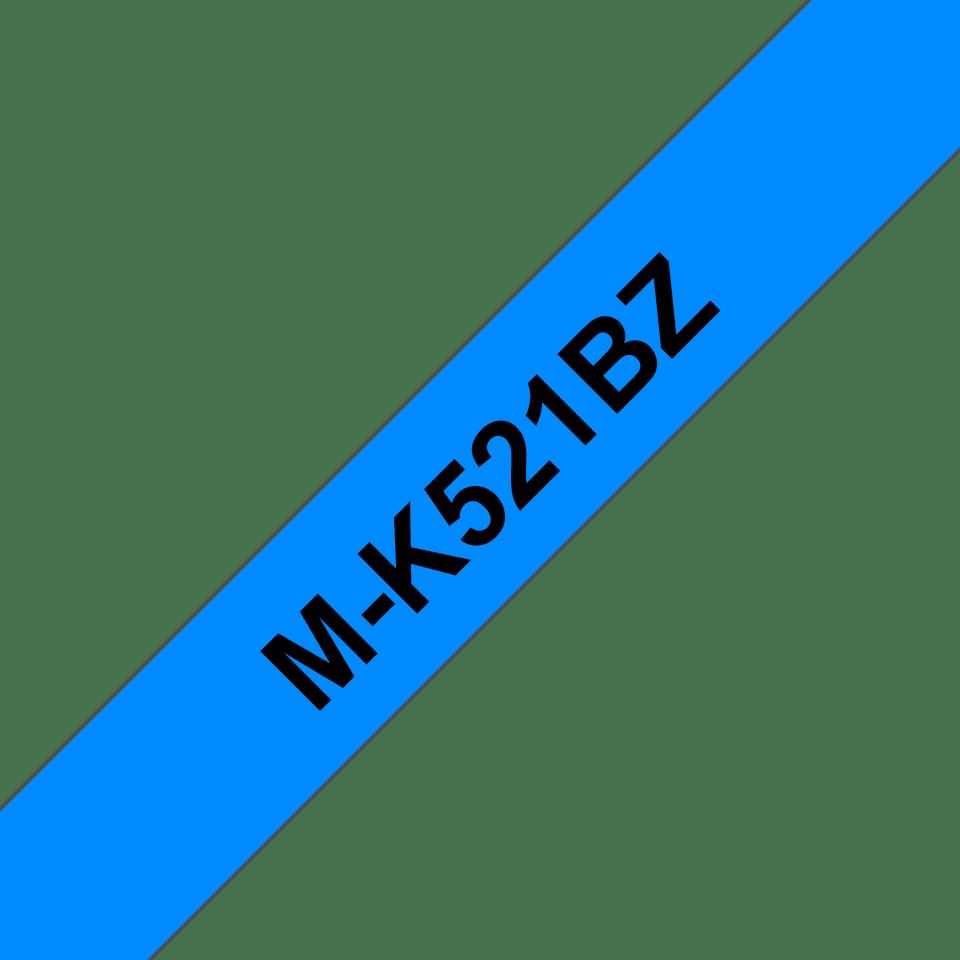 Genuine Brother M-K521BZ Labelling Tape Cassette – Black on Blue, 9mm wide 0