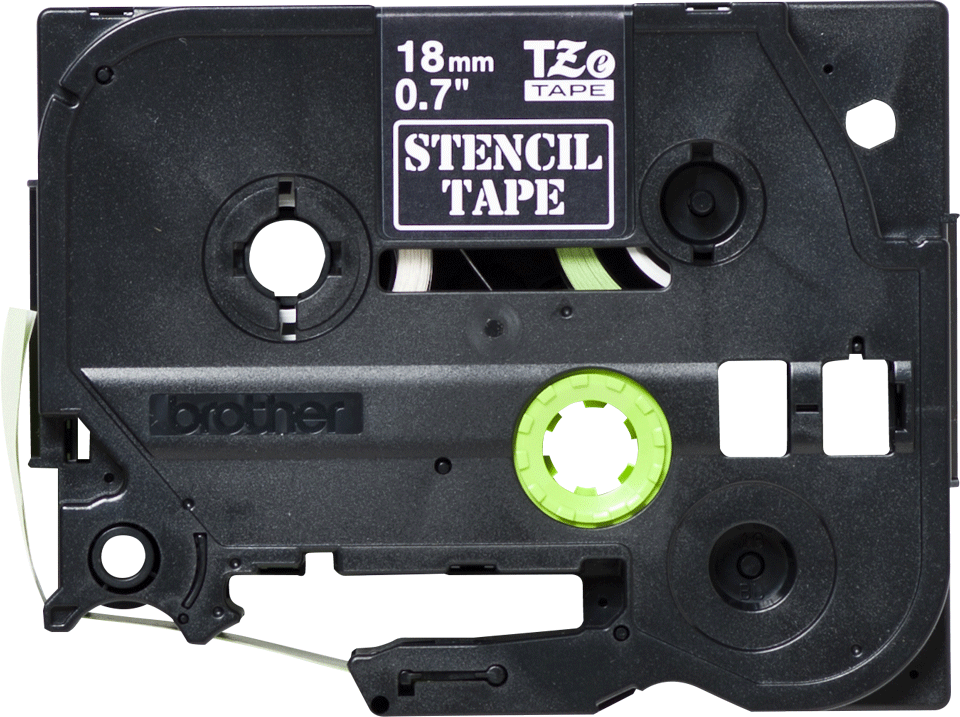 Genuine Brother STe-141 Stencil Tape Cassette – Black, 18mm wide