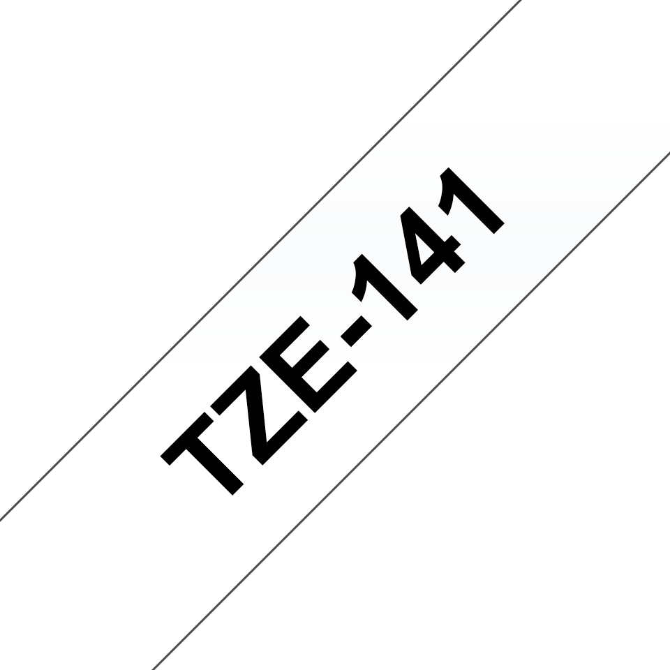 Genuine Brother TZe-141 Labelling Tape Cassette – Black on Clear, 18mm wide 3