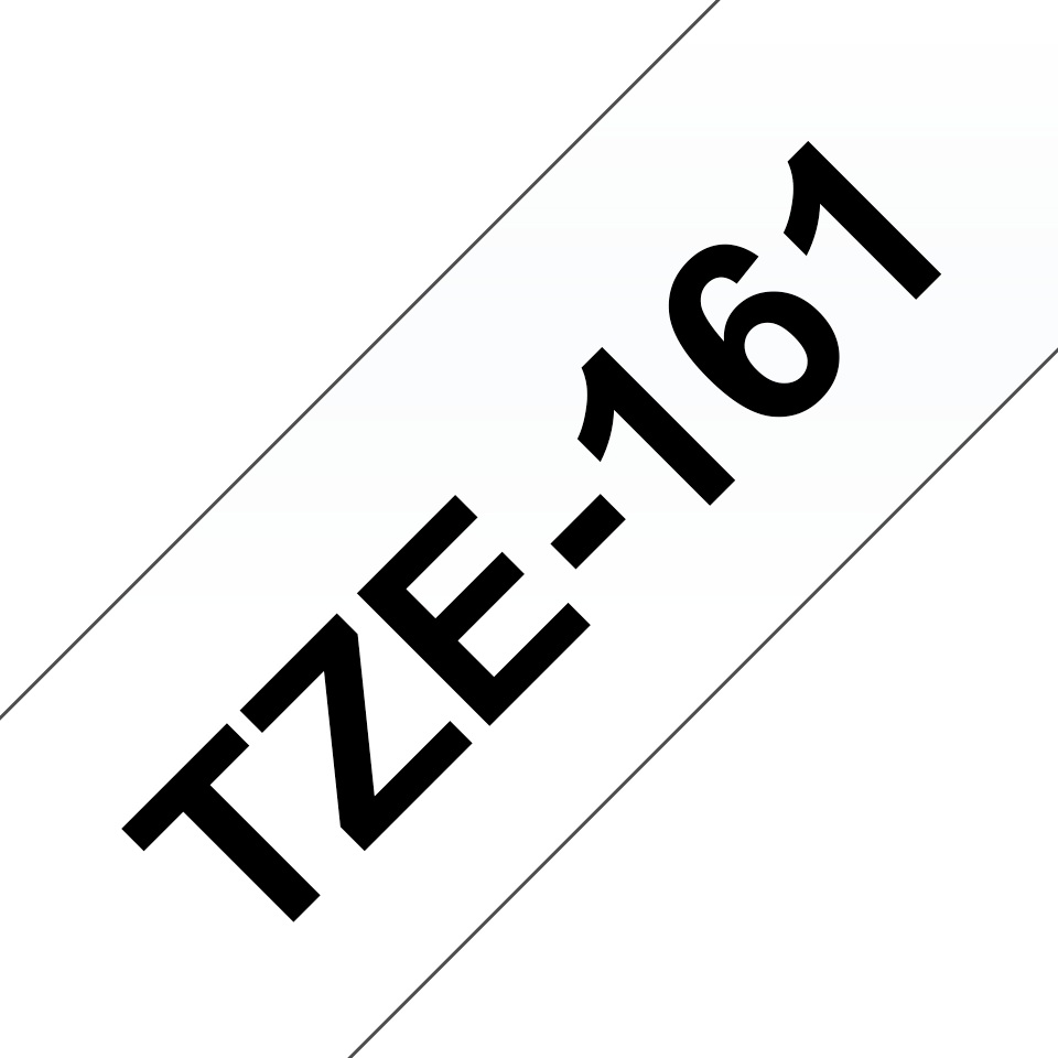 Genuine Brother TZe-161 Labelling Tape Cassette – Black on Clear, 36mm wide 2
