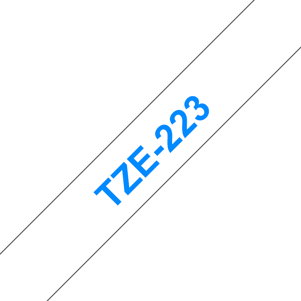 Genuine Brother TZe-223 Labelling Tape Cassette – Blue on White, 9mm wide