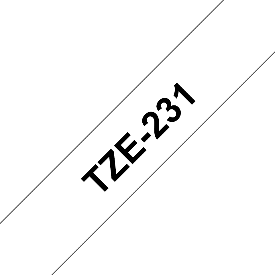 Genuine Brother TZe-231 Labelling Tape Cassette – Black on White, 12mm wide 3