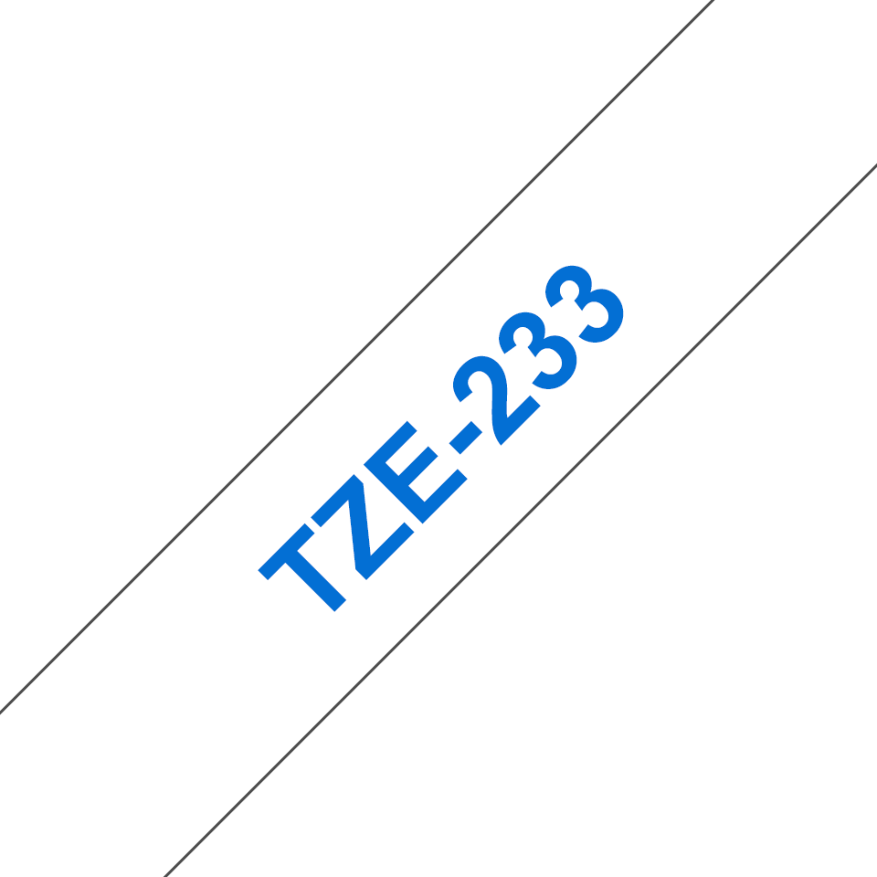 Genuine Brother TZe-233 Labelling Tape Cassette – Blue on White, 12mm wide 3