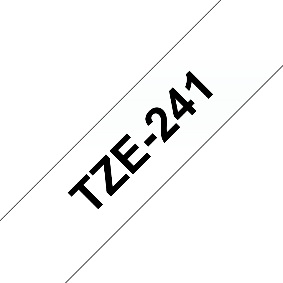 Genuine Brother TZe-241 Labelling Tape Cassette – Black on White, 18mm wide 3