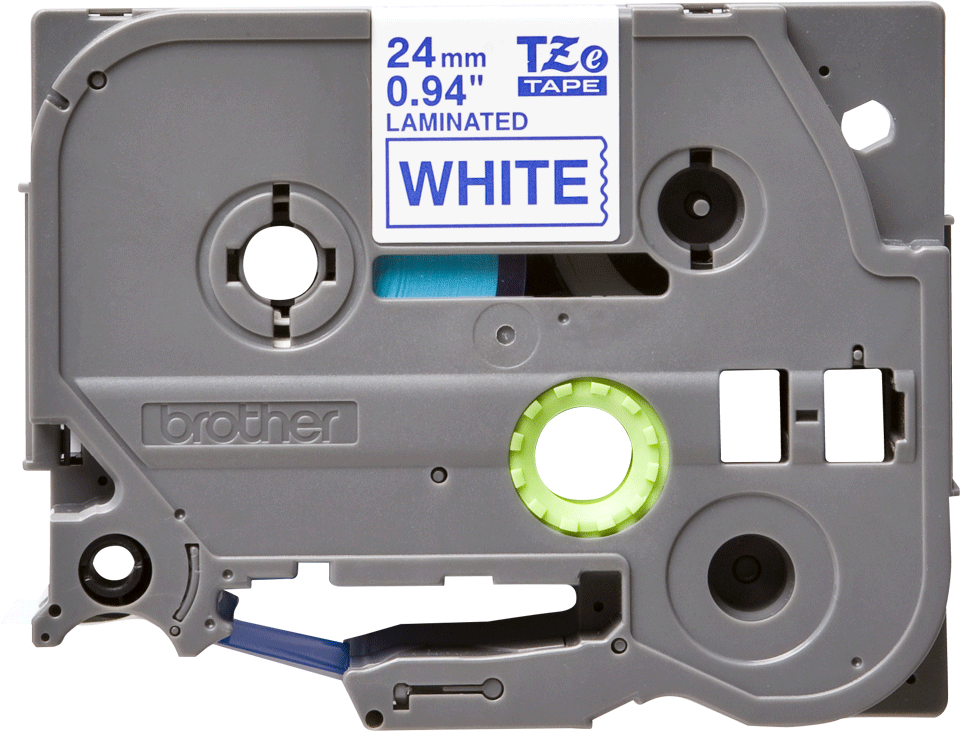 Genuine Brother TZe-253 Labelling Tape Cassette – Blue on White, 24mm wide