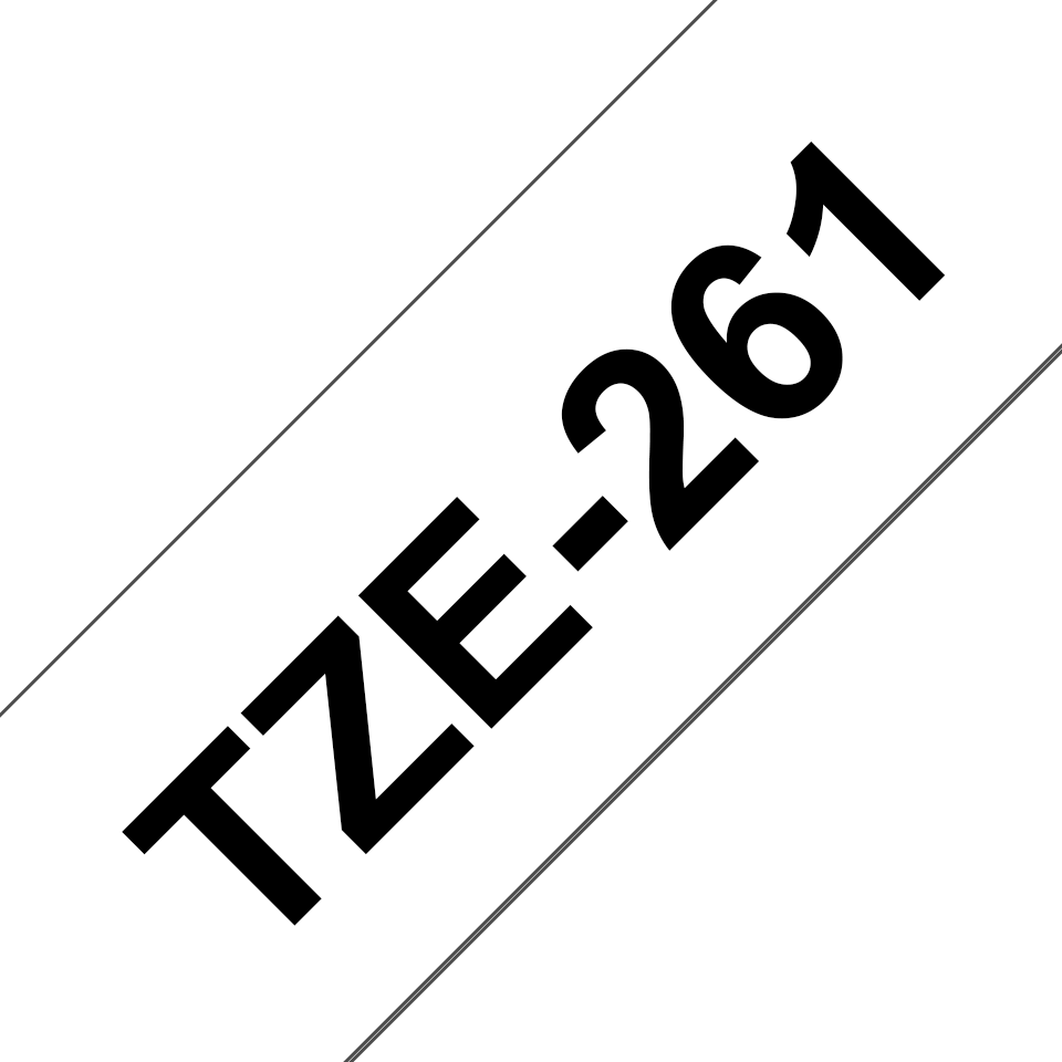Genuine  Brother TZe-261 Labelling Tape Cassette – Black on White, 36mm wide 3