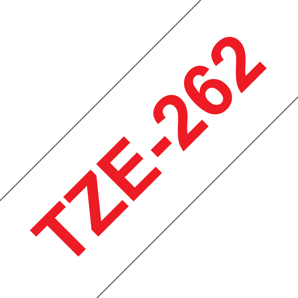 Genuine Brother TZe-262 Labelling Tape Cassette – Red on White, 36mm wide 3