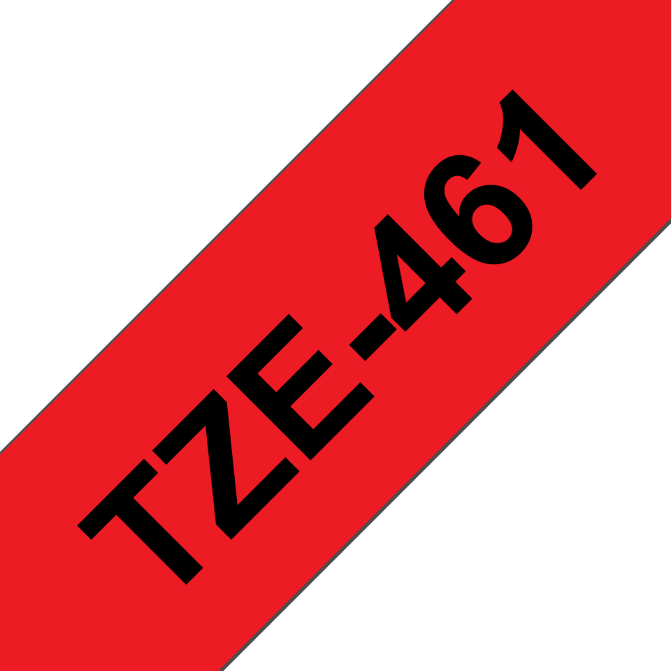 Genuine Brother TZe-461 Labelling Tape Cassette – Black on Red, 36mm wide 3
