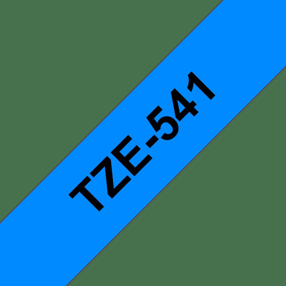 Genuine Brother TZe-541 Labelling Tape Cassette – Black on Blue, 18mm wide 3
