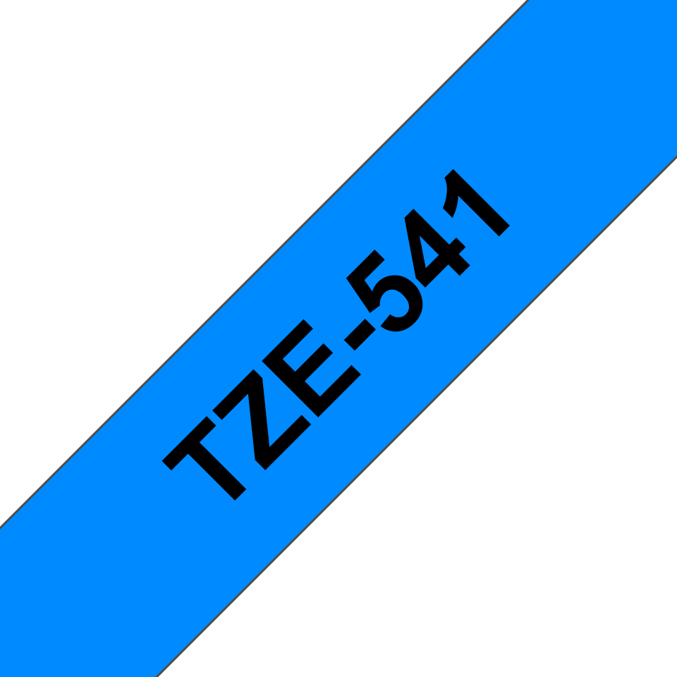 Genuine Brother TZe-541 Labelling Tape Cassette – Black on Blue, 18mm wide