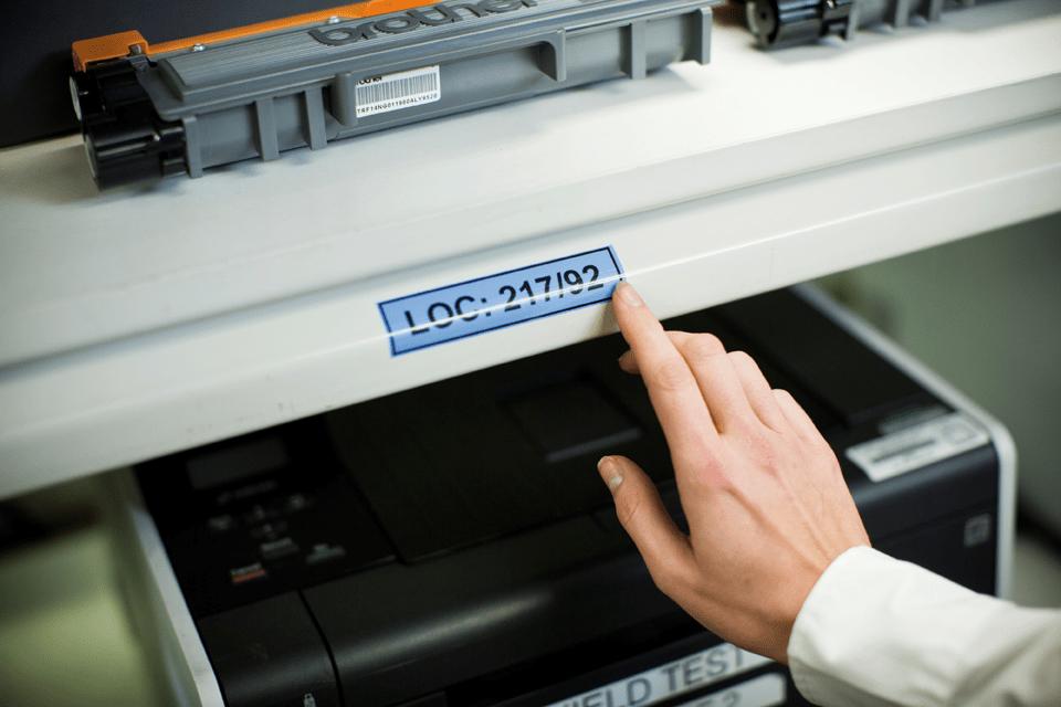 Genuine Brother TZe-551 Labelling Tape Cassette – Black on Blue, 24mm wide 4