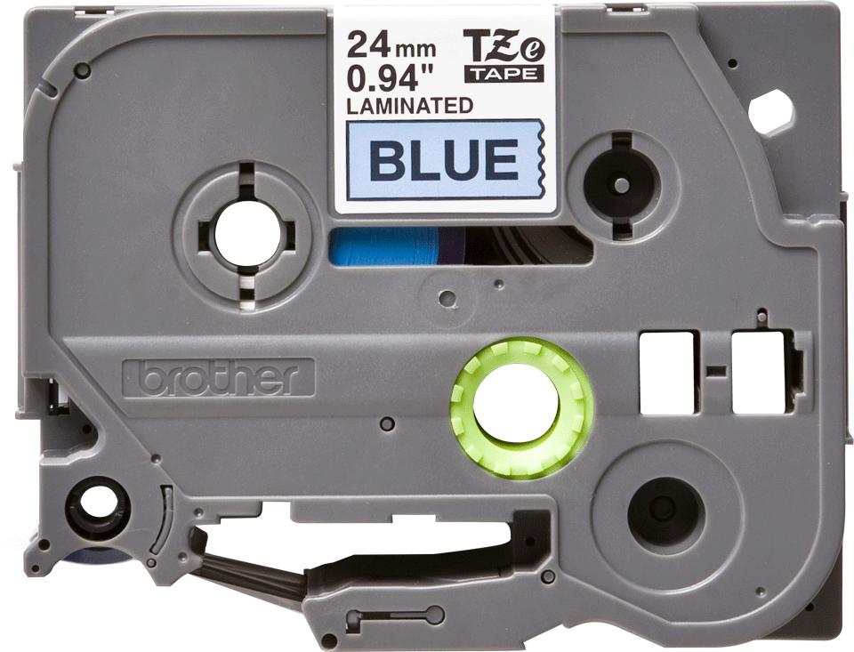 Genuine Brother TZe-551 Labelling Tape Cassette – Black on Blue, 24mm wide